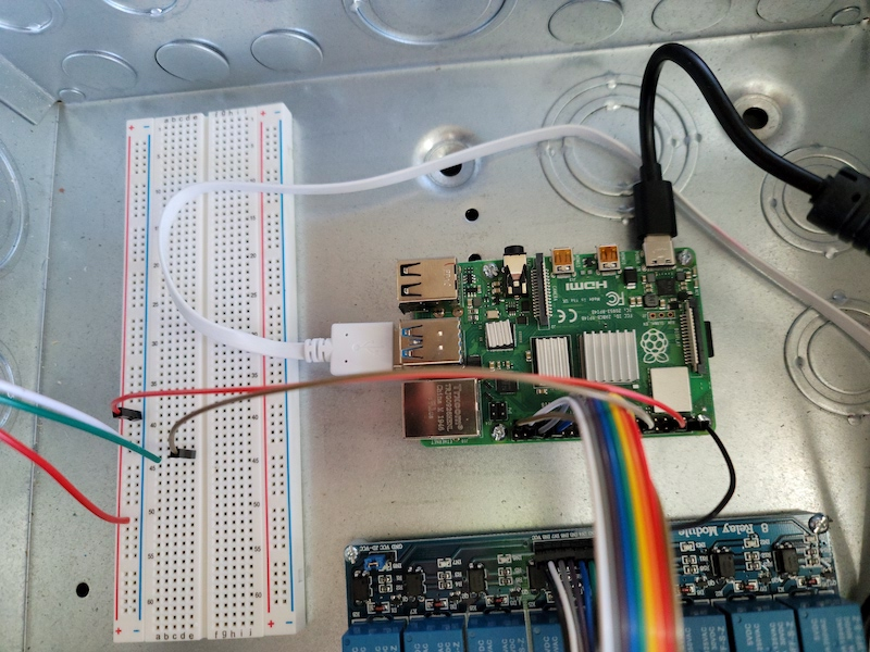 full wiring diagram of breadboard and pi